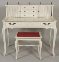 French Provincial Writing Desk  with Stool 20th C.
