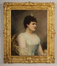 J. Carroll Beckwith, Am, Portrait , Elegant Woman
