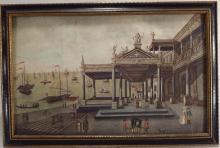 Mont Alto Palace, Naples, 18th C., Watercolor.
