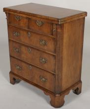 Chippendale Style Burl Bachelor's Chest