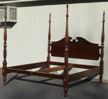 Federal Style Mahogany King Size Bed with carved b