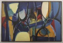 Arnold Weber, Abstract in Blue, Black and Yellow