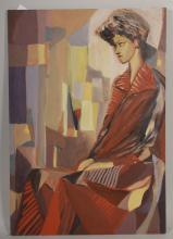 Arnold Weber, Seated Figure in Red, o/c