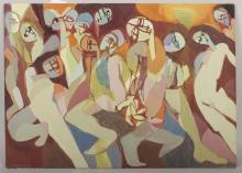 Arnold Weber, Dancing Figures, o/c