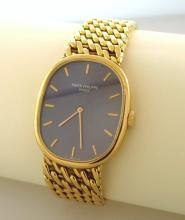 Patek Phillippe 18kt Blue Dial Man's Wrist Watch