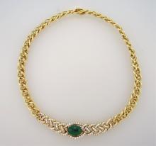 Alexander Reza Paris Emerald & Diamond Necklace