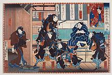 Yoshitaki, 2 Woodblocks,