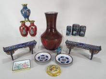 Lot of 14 Chinese Cloisonne' Articles
