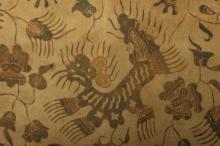 Batik Silk Fabric, Java, early 20th C.
