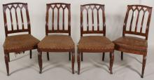 Alexander Roux, 4 Gothic Revival Chairs, MMA-exhib