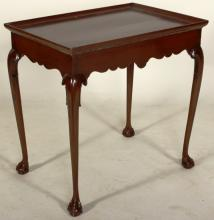 Chippendale Mahogany Tea Table, 18th C.