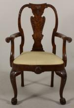 George II Style Open Arm Chair