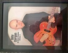 Billy Corgan photo with guitar at chess studios Chicago