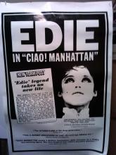 Ciao Manhattan film posters brand new beautiful