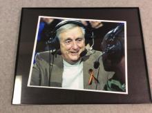 Framed Photograph of KU Sports Broadcaster Max Falkenstein