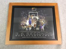Framed Photograph of Winning Shot made by Mario Chalmers at 2008 NCAA Final Championship