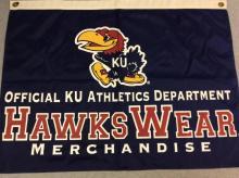 Official KU Athletics Department Hawks Wear Merchandise Banner