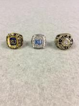 All to One Money: Replica KU Championship Rings - Big Eight Champions Tennis Ring, NCAA Final Four Champs 1986 Ring, and Bill Self Big 12 National Champions Ring