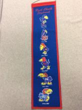 Embroidered Rock Chalk Jayhawk Banner with All KU Logos