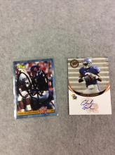 Both for One Money: 1993 Autographed NFL Dana Stubblefield Trading Card and 2006 Autographed Charles Gordon PressPass Trading Card