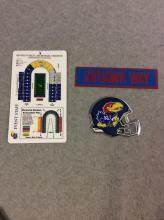 All for One Money: Memorial Stadium Diagram and KU Stick-On Decals