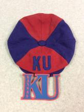 Vintage KU Newsboy Cap (Medium) with KU Decal