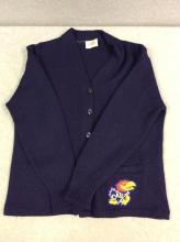 Orlon Acrylic KU Button-Down Sweater
