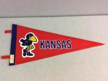 Felt KU Pennant Flag with Original Mascot