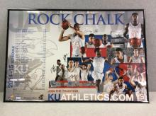 Authentic Autographed KU Basketball Poster - 2014-15 Team