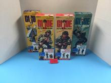 (4) 2008 GI Joe Authentic Repro. 1964 Figures (Soldier/Sailor/Pilot/Marine) In Box - For One Money