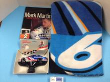 Box of Various NASCAR Mark Martin #6 Memorabilia and Collectibles - All For One Money