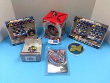 (6) Various Jeff Gordon Christmas Ornaments NIB - All For One Money