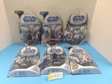 (6) Star Wars Legacy/Clone Wars Action Figures NIP - All For One Money