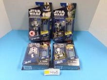 (4) Star Wars: The Clone Wars Action Figures NIB - All For One Money