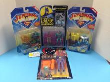 (4) DC Action Figures NIB - All For One Money