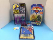 (3) DC Action Figures NIB - All For One Money