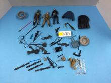 Box of Miscellaneous Star Wars/GI Joe Loose Accessories & Figures - All For One Money