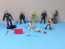 (7) Various Loose Action Figures & Accessories (Star Wars/Star Trek) - All For One Money
