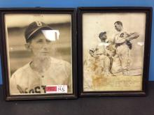 (2) Vintage Baseball Photos Framed for one money