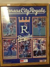 Large KC Royals Framed/Matted Picture