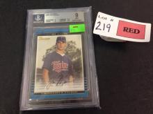 2002 Bowman Joe Mauer graded baseball card RC