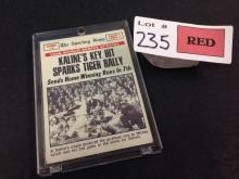 1969 Topps 1968 World Series Game #5 baseball card