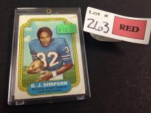 1974 Topps O.J. Simpson football card