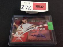 2014 Topps Michael Wacha certified autograph issue baseball card