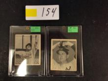 (2) Bowman Baseball Cards (1948 Marty Marion/1948 Joe Page) - For One Money