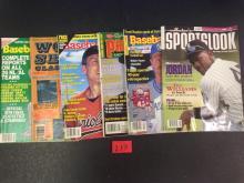 (6) Misc. Baseball Magazines - For One Money