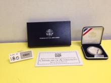 1994 World Cup USA Commemorative Coin Proof w/COA - Missing Box Sleeve