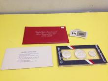 1776-1976 US Bicentennial Silver Uncirculated Set w/Documentation