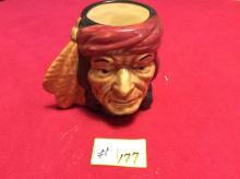 Indian Head Vase