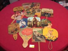 Antique Hand Fans - miscellaneous Americana advertising